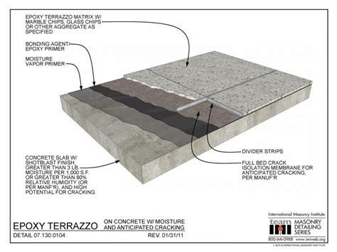 07 130 0104 epoxy terrazzo on concrete w moisture and anticipated cracking international