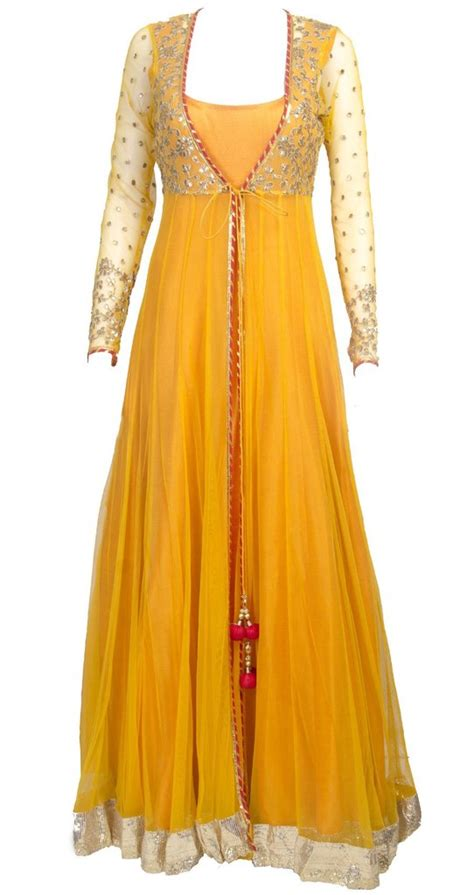 Sheer Jacket Long anarkali ? Panache Haute Couture