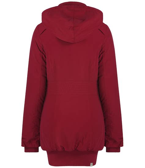 bench parka jacket bench razzer ii hooded parka jacket in red lyst