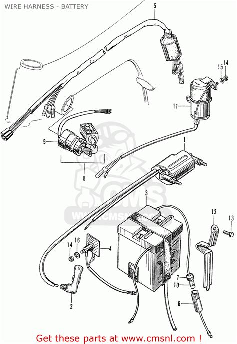 honda ss50z wire harness battery schematic