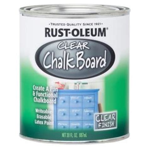 rust oleum specialty 30 oz clear chalkboard paint