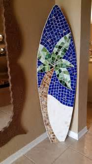 Surfboard Wall Decor by Wood Mosaic Surfboard Wall Decor House By