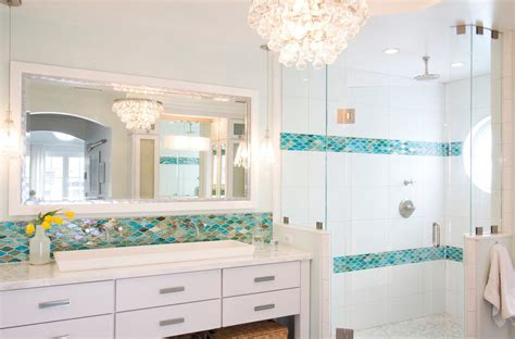 sea glass bathroom ideas miami sea glass tiles bathroom transitional with two sinks