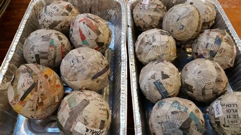 How To Make Paper Mache Balls - studio claremont