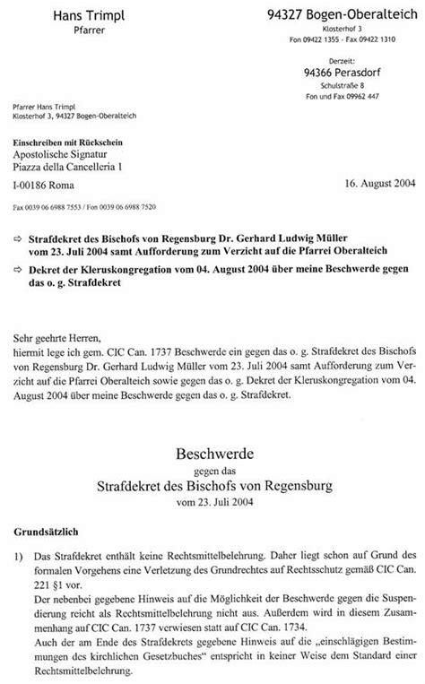 Beschwerdebrief B1 Professor Jilek Hatte Sich Erdreistet Einen Nachstil Und Inhalt Un 173 An 173 Gemesse 173 Nen Brief Des