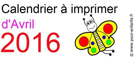 Calendrier Avril 2016 à Imprimer Gratuit Calendriers D Avril 2016 224 Imprimer Gratuit Calendrier