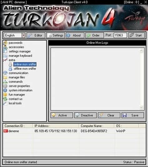 tutorial hack pc hacking turkojan tutorial how to hack pc remotely