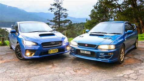 subaru impreza old subaru wrx sti old v new comparison 2015 sedan v 1999 two