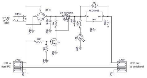 circuit diagram   usb power adapter  scientific diagram