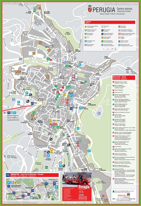 map of perugia italy perugia tourist attractions map