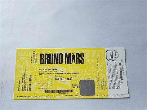 vender entradas de conciertos entradas para concierto bruno mars cancha 3 s 500 00
