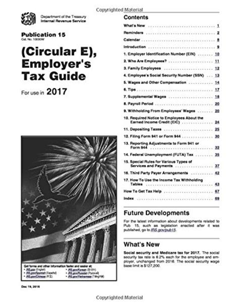 publication 15 circular e section 11 employer s tax guide publication 15 circular e for use