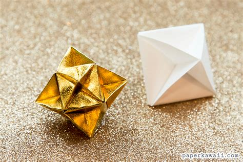 Origami One - origami cube decoration tutorial paper kawaii