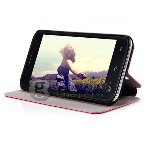 Ipearl New Leather With Stand Pink 1 brand new protective cover flip stand leather for doogee dg310