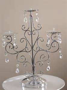 Candle Chandelier Centerpieces by On Sale Silver Candelabra Candle Holder By Designsbyembellish