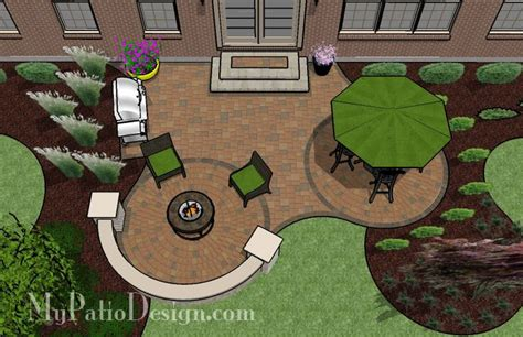 Patio Layout Ideas Circle Pavers And Patio Patio Designs Ideas