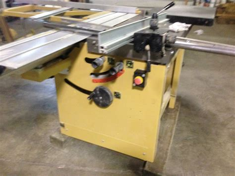 used powermatic table saw powermatic hps67 67 quot sliding table saw machine for sale