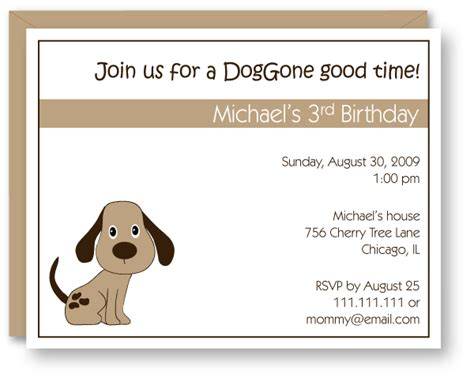 puppy invitations birthday invitations theruntime