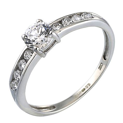 9ct white gold cubic zirconia ring h samuel