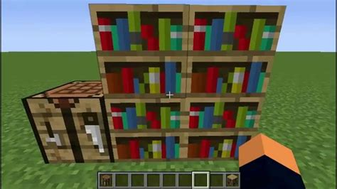 minecraft how to craft a bookshelf