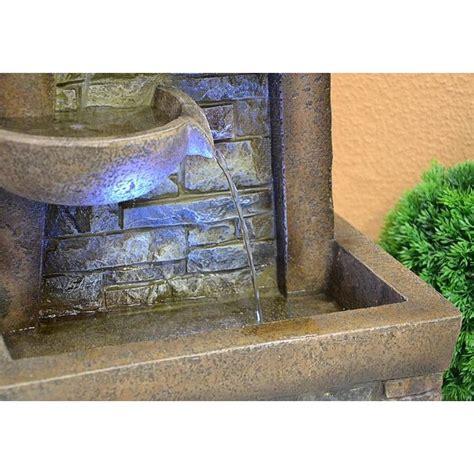 fontana a colonna da giardino fontana a colonna da giardino con led mod ciotole e