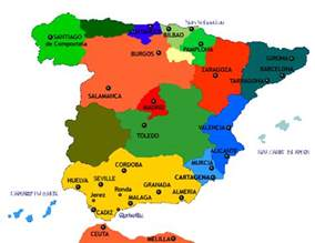 Spain Map With Cities by 403 Forbidden