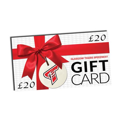 Gift Card Values - gift card value 163 20 00 glasgow tigers speedway