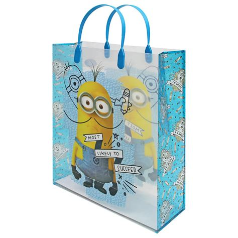 minion gift wrap b m despicable me minions gift bag most likely to