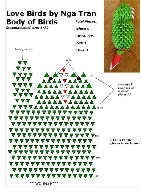 3d Origami Diagrams - 01 birds diagram 3d origami bird