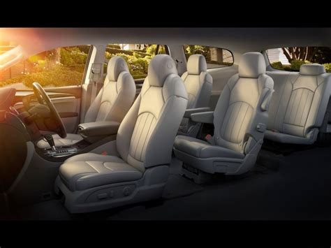 buick enclave second row bench seat 10 suvs with second row captain s chairs autobytel com