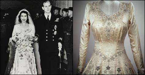 Dres Elizabeth history of elizabeth ii s intricate wedding gown
