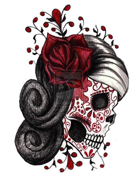 sugar skull tattoo with roses image result for http fc01 deviantart net fs71 i