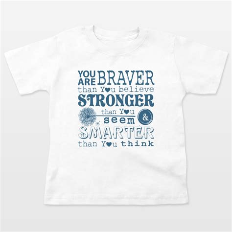 Robin Quote T Shirt you are braver than you believe winnie the pooh