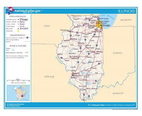 maps usa illinois maps of illinois state collection of detailed maps of