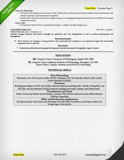 Cto Resume by Executive Resume Exles Writing Tips Ceo Cio Cto
