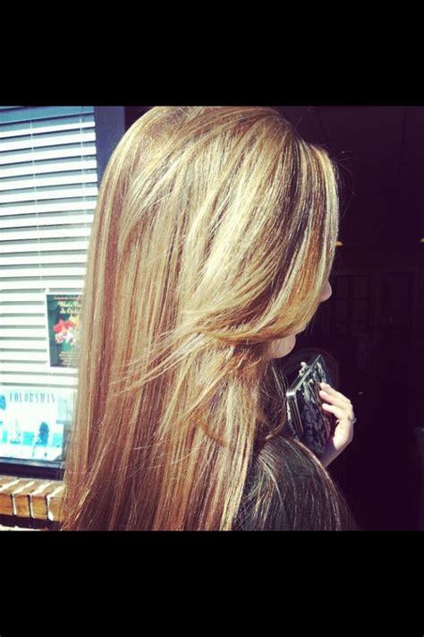 apostolic hair bangs blonde highlights long layers side swept bang my work