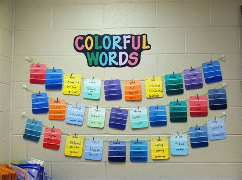 synonym for colorful quot colorful words quot synonym word wall writing
