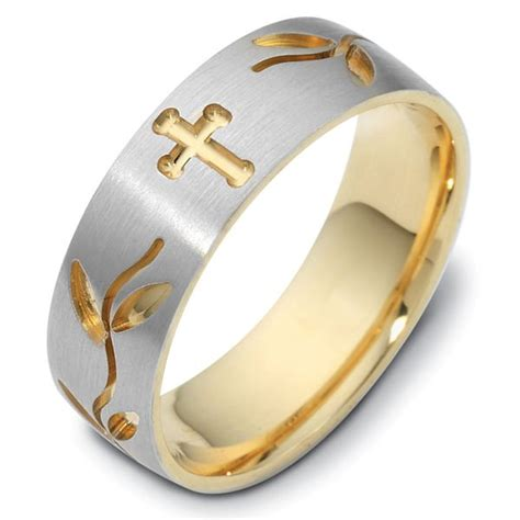 Wedding Bands With Crosses gold wedding rings gold wedding rings with cross