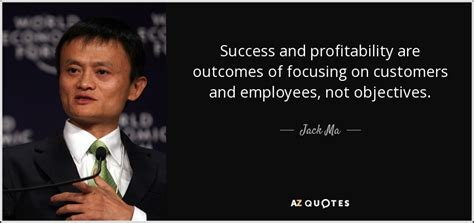 Of Arizona Mba Outcome by Ma Quote Success And Profitability Are Outcomes Of