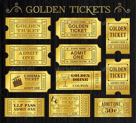 editable golden ticket template