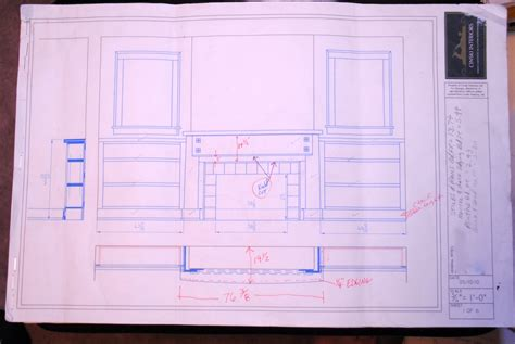 red ink homes floor plans craftsman style mantel bookcases thisiscarpentry