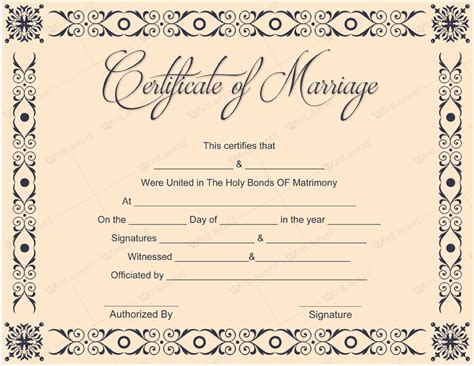 marriage certificate marriage certificate gallery