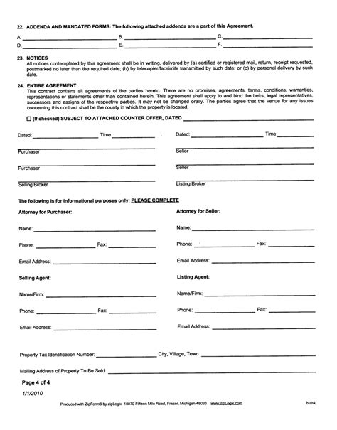 contract forms free printable documents