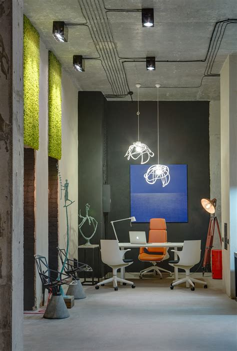 cool office lighting a modern office space that looks like an urban loft