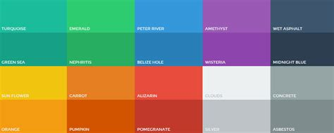 flat ui color swatches photoshop aco color palette