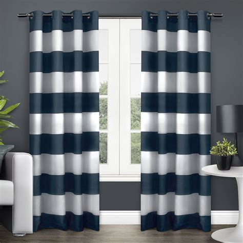 striped door curtain com exclusive home surfside cotton cabana stripe