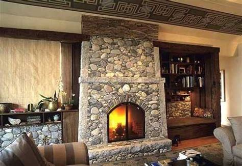 rock fireplace designs interior design ideas