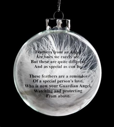 ornament to remember a loved one feather poems and quotes quotesgram