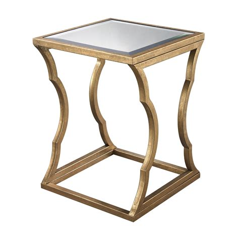 Gold Table Ls by Metal Cloud Side Table In Gold Leaf Design By Lazy Susan