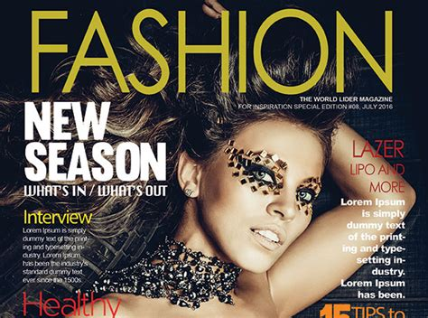 fashion magazine cover psd template graphicloads